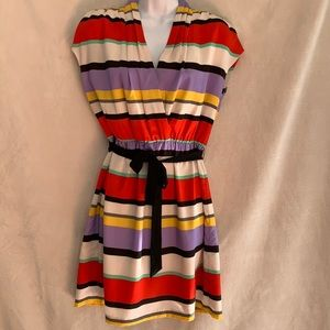 Kensie striped shirt sleeve dress size Small